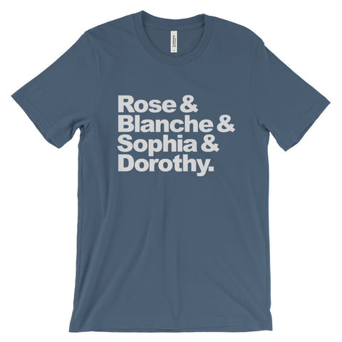 Rose, Blanche, Sophia & Dorothy - Bella + Canvas Unisex Short Sleeve Jersey T-Shirt - TriggerMouth T-Shirts and Tank Tops