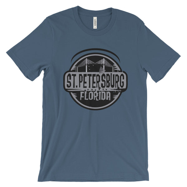 St. Petersburg Skyway Bridge - Bella + Canvas Unisex Short Sleeve Jersey T-Shirt - TriggerMouth T-Shirts and Tank Tops