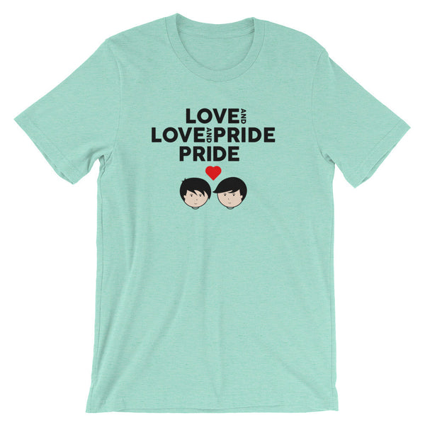 Love and Pride M4M - Short Sleeve Jersey T-Shirt