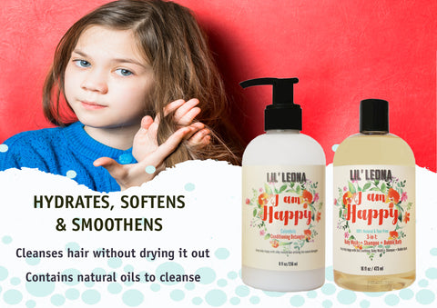 Baby Conditioner and Shampoo by Lil Leona: Cleansing conditioner and cowash for kids' hair.