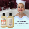 Image of 3-in-1 Baby Shampoo Bubble Bath and Body Wash - 16 oz (2 pack Calendula)