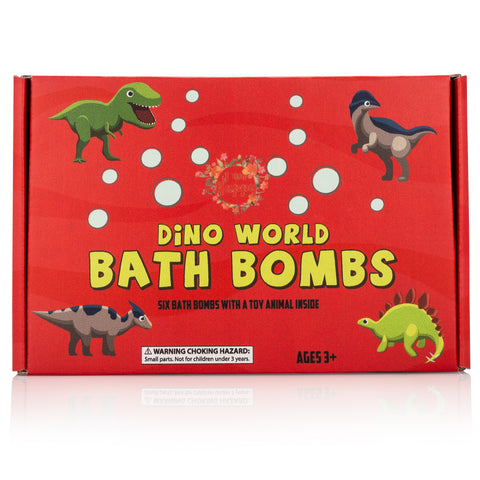 Dinosaur Bath Bombs for Kids with Surprise Inside: Dinosaur Toys for Boys and Girls. Educational STEM Toys for 3 4 5 6 7 8 years old includes Learning Guide. Dinosaur Playset and Science Kits for Kids