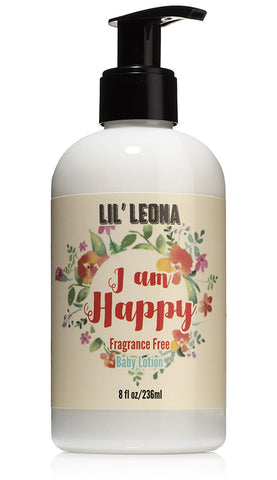 Lil Leona Sensitive Skin Baby Face & Body Lotion - 8 oz - Daily Moisturizer for babies, infants and toddlers (Unscented) - Made with Natural & Organic Ingredients