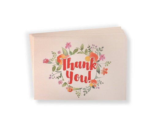50 Thank You Post Cards by Lil Leona