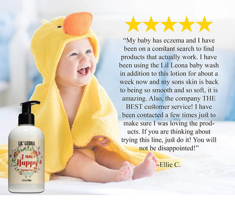 Baby Face & Body Lotion - 8 oz - Daily Moisturizer for babies, infants and toddlers (Unscented) - Made with Natural & Organic Ingredients