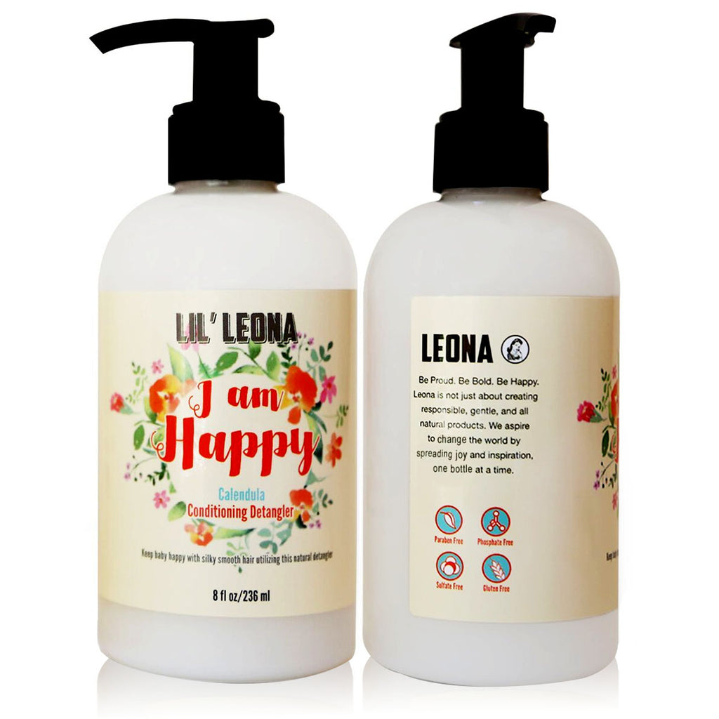 Baby Hair Conditioner & Detangler by Lil Leona: Safe and Non-Toxic Cleansing Conditioner for Infants, Toddlers, and Kids of all Ages. Gentle Tear Free No More Tangles for Curly Hair. Available in Calendula and Fragrance-Free Variants.