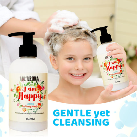 Baby Conditioner & Detangler by Lil Leona: Safe and Non-Toxic Cleansing Conditioner Formula for easy to brush hair