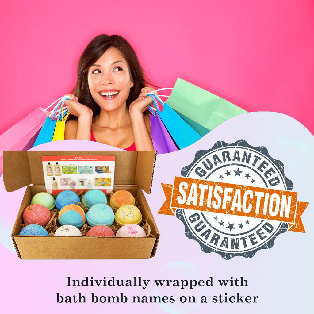 12 Pieces Bath Bombs Gift Set - Organic and Moisturizing Bath Bomb, Handmade from USA. Bath Bombs for Women, Men, Kids. Fantastic Birthday, Wedding, Party Gift Ideas for Him/Her.