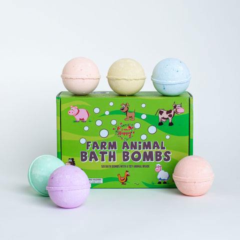 Rainbow Colors Bath Bombs Gift Set - 36 Mini Bath Bombs for Kids, Women and Men. Handmade Natural Bath Bombs with Shea Butter and Coconut Oil for a Relaxing Spa Bath. Perfect Gift Idea for Her/Him