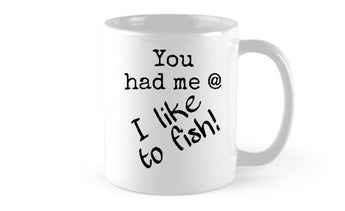I like to fish - Black/White Mug