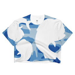 Salty Cubans Blue Camo-Ladies Crop Top