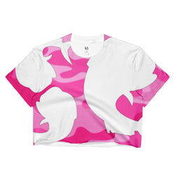 Salty Cubans Pink Camo-Ladies Crop Top