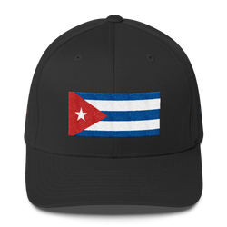 Cuban Flag-Salty Cuban Flexfit Structured Twill Cap