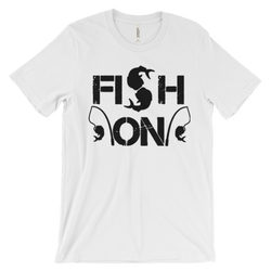 Fish on-Salty Cubans Unisex short sleeve t-shirt