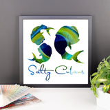 Salty Cubans-Mahi Framed photo paper poster