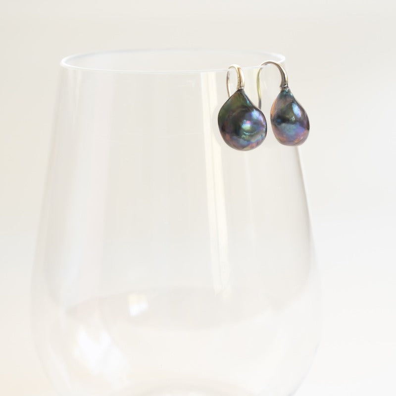 "Stephanos ""Calypso"" Teardrop Baroque Pearl Earrings"