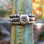 Custom Zodiac Stacking Ring Set - Sterling Silver Astrology Ring Set