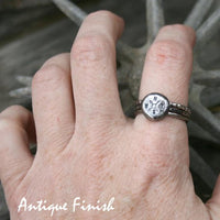 Compass Stacking Ring Set - Sterling Silver Wanderlust Ring Set