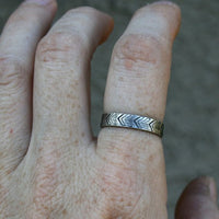Personalized Jewelry - Custom Sterling Silver Ring - Tribal Design