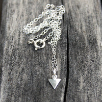 Sterling Silver Geometric Triangle Necklace