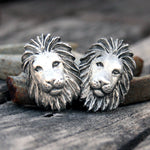 Lions Head Pewter Cufflinks