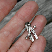 Tie Tack - Lapel Pin - Skis