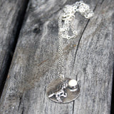 Sterling Silver Magical Unicorn Necklace with Mother of Pearl