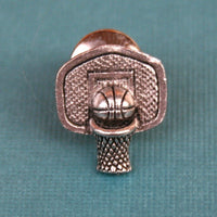 Tie Tack - Basketball and Hoop