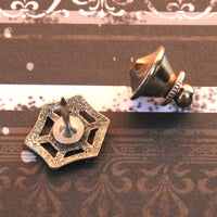Tie Tack - Lapel Pin - Spider Web
