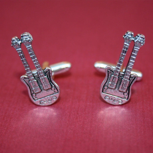 Cufflinks - Double Neck Electric Guitar