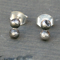 Sterling Silver Rustic Post Earrings