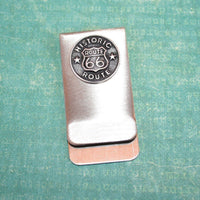 Money / Card Clip - Route 66, Large