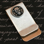 Money / Card Clip - Skull and Crossbones, Large
