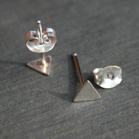 Sterling Silver Post Earrings - Triangles