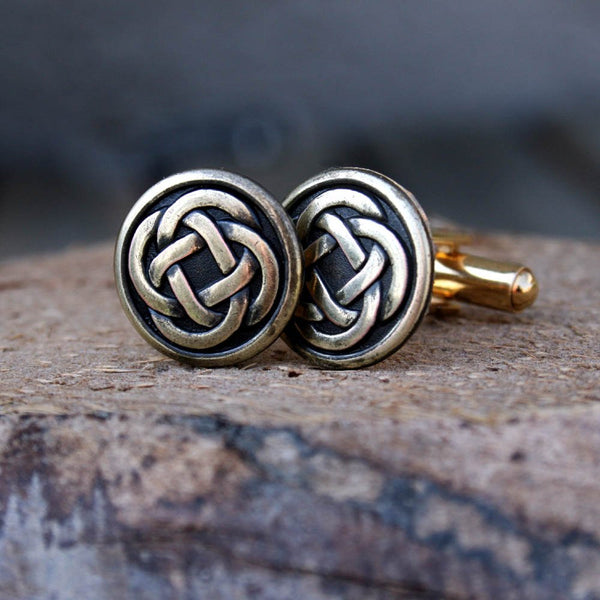 Cufflinks - Cuff Links - Gold Celtic Knot