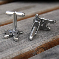 Personalized Initial Drum Set Cufflinks - Cuff Links - Custom Cuff Links