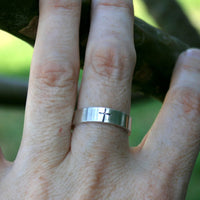 Personalized Jewelry - Custom Sterling Silver Ring - Cross
