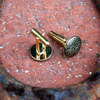 Cufflinks - Celtic Eternal Knot, Antique Gold Finish