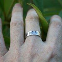 Personalized Jewelry - Custom Sterling Silver Ring - Chevron Symbol