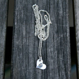 Personalized Jewelry - Sterling Silver Necklace - Custom Initial on Heart