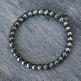 Sterling Silver Ring - Stacking Beaded Ring