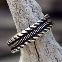 Personalized Sterling Silver Ring - Custom Patterned Band