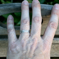 Latitude and Longitude Ring Set -  Custom Coordinates GPS - Couples Ring Set - Wedding Ring Set