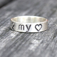 Personalized Jewelry - Personalized Sterling Silver Message Ring - Key to my Heart