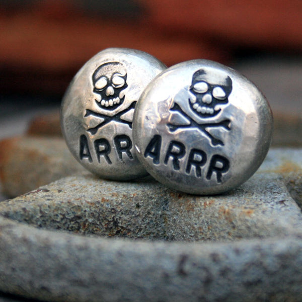 Cufflinks - Cuff Links - Jolly Roger - Pirate