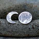 Sterling Silver Moon Phase Post Earrings