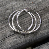 Moon Phase Stacking Ring Set - Sterling Silver