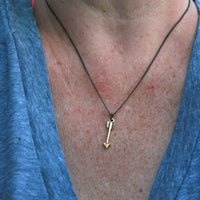 Gold Plated Necklace - Tribal Gold Plated Arrow