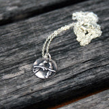 Sterling Silver Necklace - Love Birds