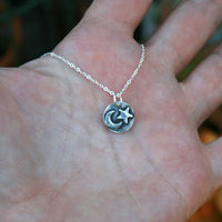 Sterling Silver Necklace - Celestial Moon and Star